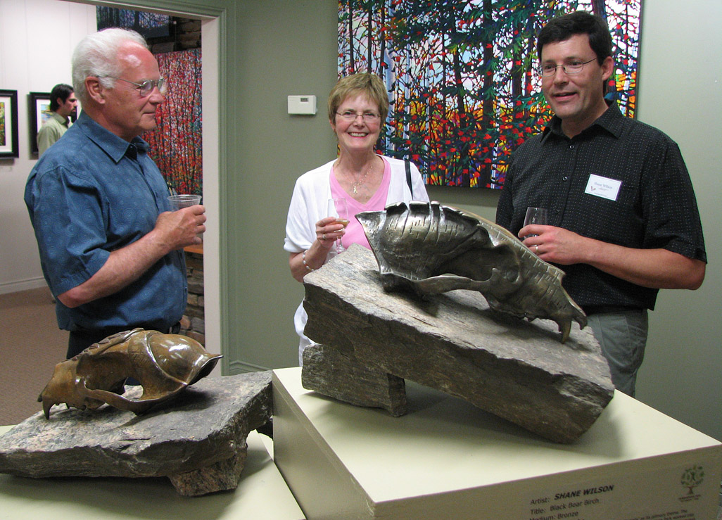 Shane Wilson discusses his Silvi Skullpture Series at the Algonquin Art Centre Gallery Opening, 2011