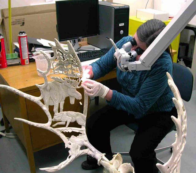 Valerie Monahan restores Yukon Seasons, YTG, Whitehorse, Yukon, Canada 2008