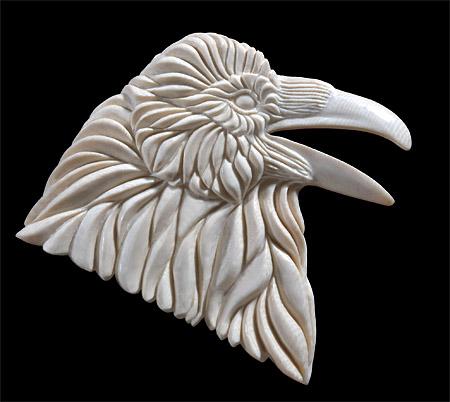 Yukon Voice - mammoth ivory - 3x3in - 2004 - Shane Wilson