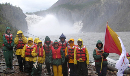 Canada Winter Games Torch Challenge - Victoria Falls, Nahanni River, NWT, Canada, 2006
